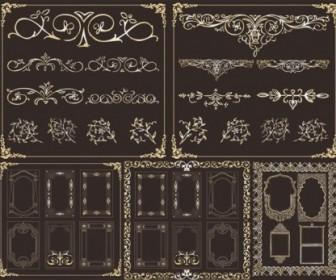 Vector Retro Border Frame Decoration - Ai, Svg, Eps Vector