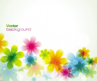 Dream Spring Flowers Background Vector Card