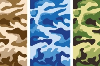 Vector Camouflage Pattern Army Style Illustration