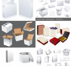 Vector Utility Box Template Illustration