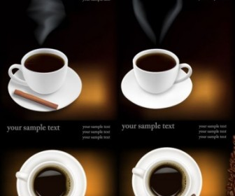 Coffee Theme Vector Background
