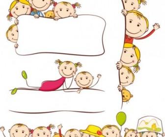Cartoon The Children Painting Vector Art