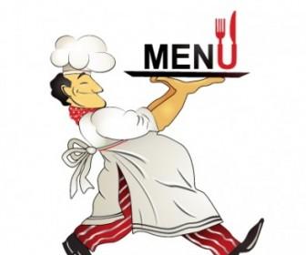 Restaurant Menu Chef Pattern Vector
