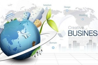 Environmental Protection Global Business Background