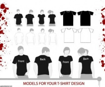 T-Shirt Models Vector