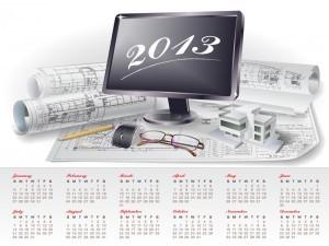 Creative Calendar 2013 Vector