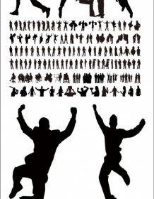 Characters Silhouette Vector Silhouettes