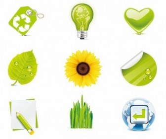 Green Eco Vector Icons Pack