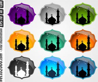 Mosque Icons Set