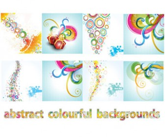 Abstract Colorful Background Vector Pack