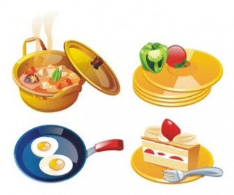 Free stock vector design elements 3D set icon cookery 34