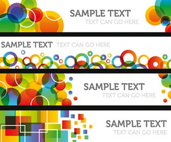 Colored banner Illustration Vector