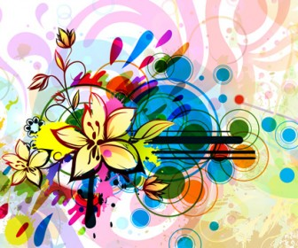 Colorful Floral and Flower illustration