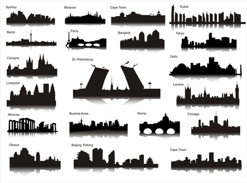 World City Silhouettes Ai Svg Eps Vector Free Download
