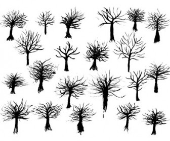 Free Vector Ink Tree