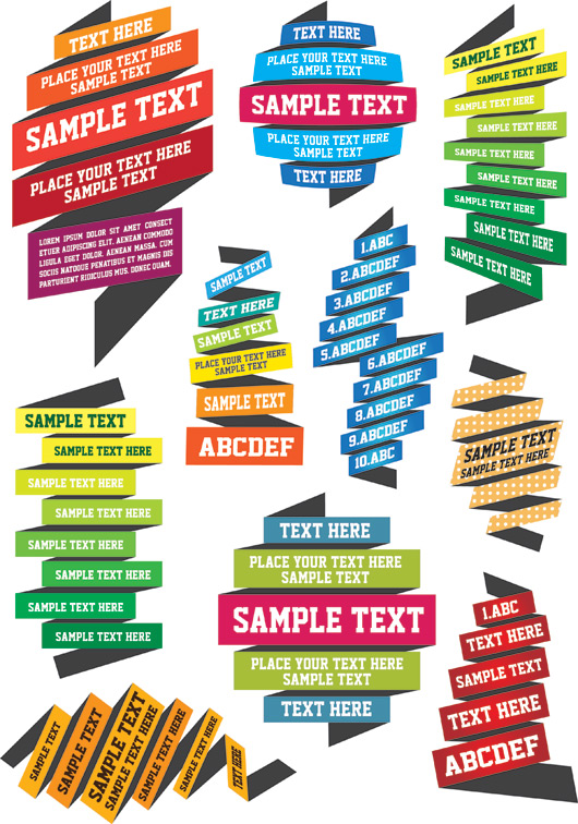 Text Label Templates Vector - Ai, Svg, Eps Vector Free Download