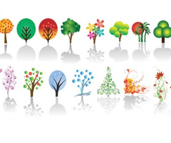 Trees Vector pack Illustrations
