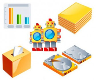Elements and set 3D icons9