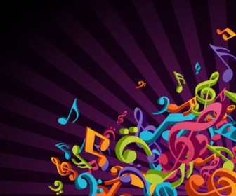 3D Music Poster Vector