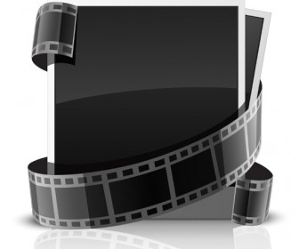 Photo cards and filmstrip vector