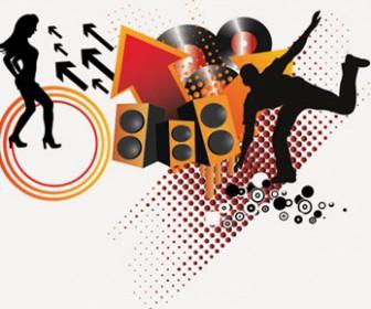 Illustration Music Element Grunge Vector