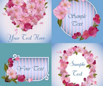 Flower frames Card vector