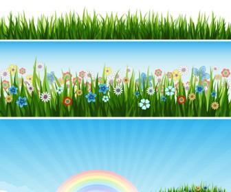 Grass Flower Banner