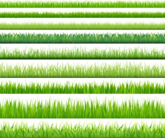 Green Grass Borders Vector