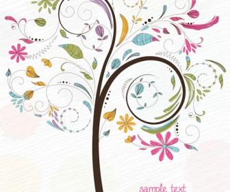 Tree illustration sketch vector