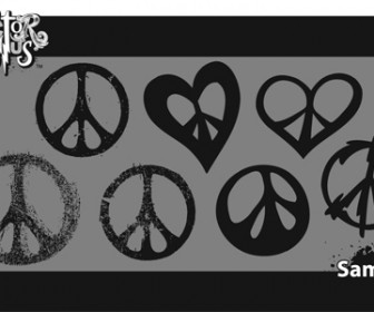 Peace Sign Shapes Vector
