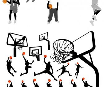 Basketball Player Equipments Vector Art