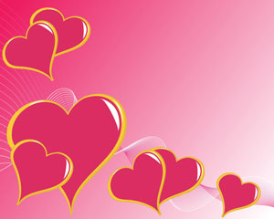 Vector Abstract pink love background