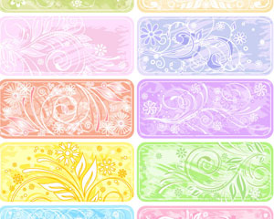 Flower Banner Colorful Style