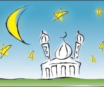 Mosque Building Illustration