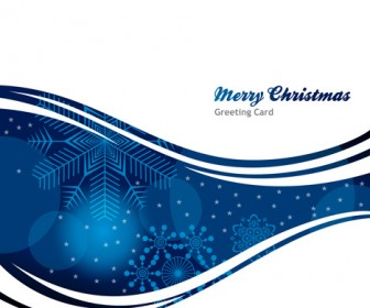 Abstract Blue christmas background card