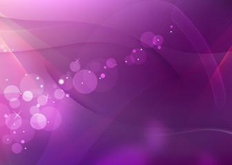 Pink Abstract Wave and Bokeh Background