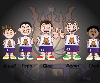 Basketball Vector First Five Team