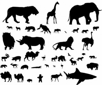 Silhouette Animal Vector