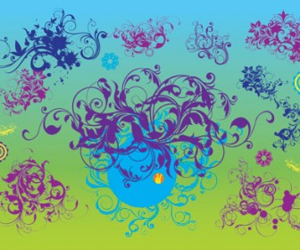 Nature Scroll Vector Illustration