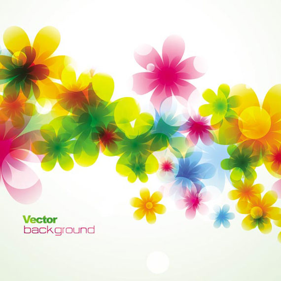 Stylish Colorful Flower Vector Art