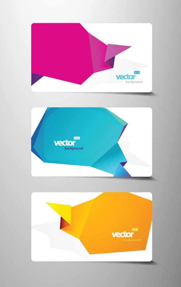 origami business card vector