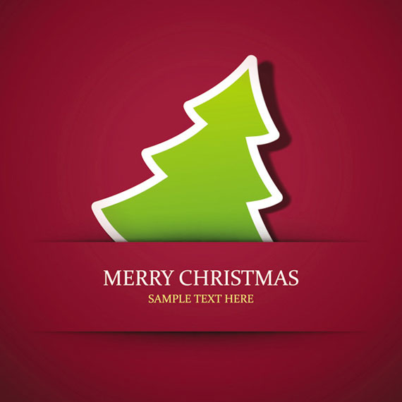 Simple Xmas Tree Seasons Greeting Vector - Ai, Svg, Eps ...