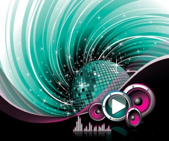 The Trend of Music Illustration Background