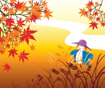 Autumn Landscape Vector Art