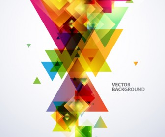 Abstract Colorful Background Vector Business Card