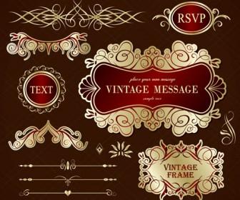 Free Vector Vintage Frames Ornamental
