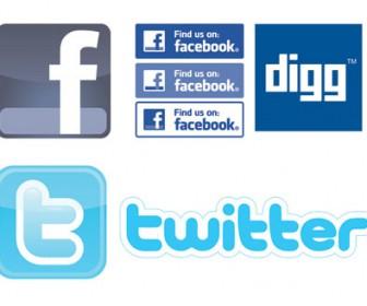 social network bookmar logo illustration