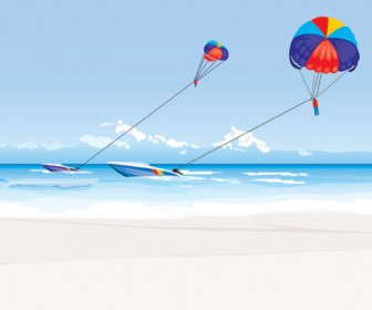 Vector Sea Landscape Illustration