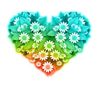 Flower Heart Shape Vector art