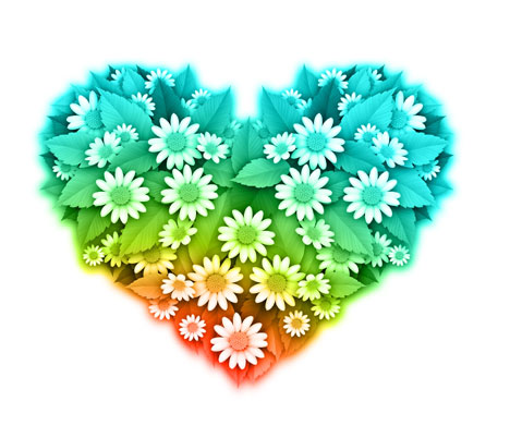 flower heart shape vector art  ai, svg, eps vector free download, Beautiful flower